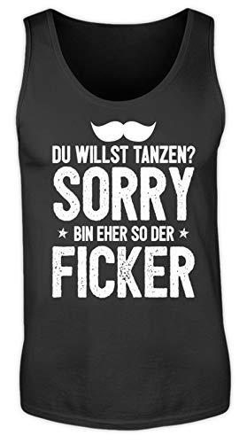 Lustiges frecher Spruch Saufen Party Shirt Eher So Der Ficker Trinken Saufshirt Single - Herren Tanktop