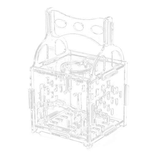 KEBY - Caja de alimentación de insectos transparente para reptiles de acrílico para crianza de mascotas para Spide Lizard Crickets Grasshopper