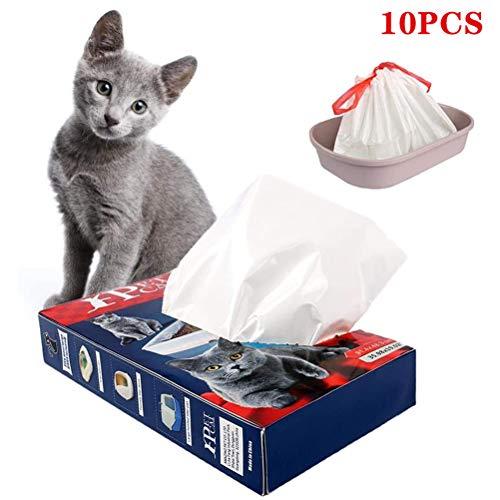 Wiivilik 10Pcs Cat Litter Bag Einweg Katzentoilette Müllsack verdickte Pet Müllsack Müllsack