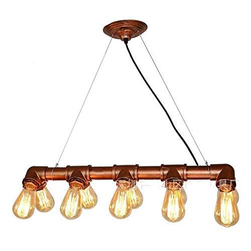 Lámpara Colgante De Techo,Lámpara De Araña Colgante Sala,Plafón De Techo Dormitorio,Luz De Tubo De Agua Retro Americana 65 * 10 Cm