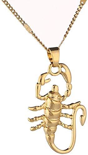 LBBYMX Co.,ltd Collar Oro Color escorpión Colgante Zodíaco constelación Astrology Collar de Moda joyería Collar