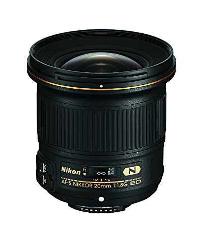 Nikon af-s fx nikkor 20mm f/1. 8g ed fixed lens with auto focus for nikon dslr cameras