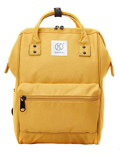 Kah&Kee Mochila Portatil Compartimiento para Laptop Antirrobo Impermeable Universidad Mujer Hombre (Amarillo, Pequeña)