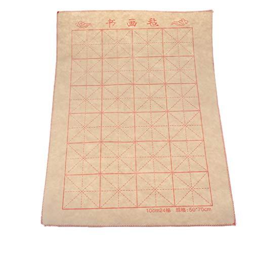 perfk Chinesische Filz Unterlage Xuan Papier Tuch Rolle Kalligraphie Teile 70 x 50 cm