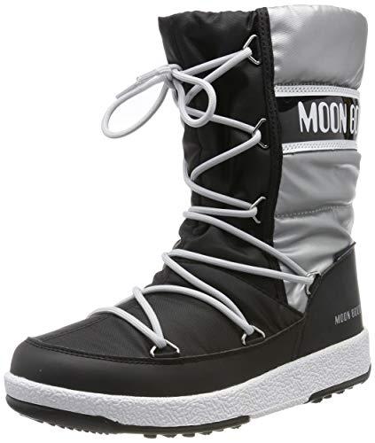 Moon Boot Mädchen Jr Girl Quilted Wp Schneestiefel, Schwarz (Nero 002), 31 EU