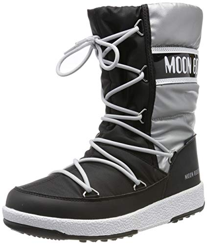 Moon-boot Jr Girl Quilted WP, Stivali da Neve Unisex – Bambini, Nero (Nero 002), 35 EU