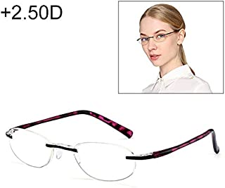 WTYD Clothing and Outdoor Accessories Women Anti Blue-ray Integrated Rimless Presbyopic Glasses, 2.50D Outdoor Equipment