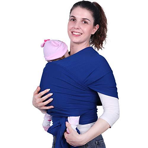 Babytragetuch für Neugeborene bis 20 KG Unisex Elastisch Weich Atmungsaktiv Blau MUBYTREE