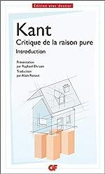Introduction de la critique de la raison pure de Raphaël Ehrsam