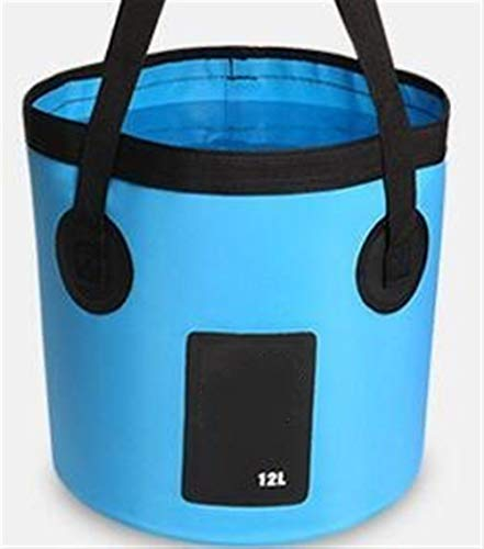 LUOSI 12L 20L Bolsas de Agua Impermeables Cubo Plegable de Pesca Cubo...