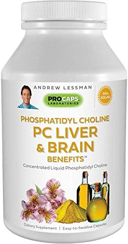 Andrew Lessman PC Liver Brain Benefits 180 Softgels Phosphatidyl Choline Most Important Building product image