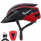 VICTGOAL Fahrradhelm mit Sicherheit LED Rear Light Mountain Bike Helm für Herren Damen Fahrradhelm...