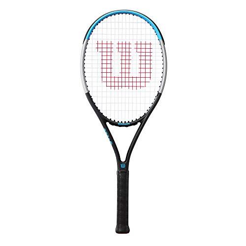 Wilson Raqueta de tenis, Ultra Power 100, Jugadores de nivel intermedio, Compuesto de fibra de carbono y basalto, Azul/Negro/Gris, WR055010U2