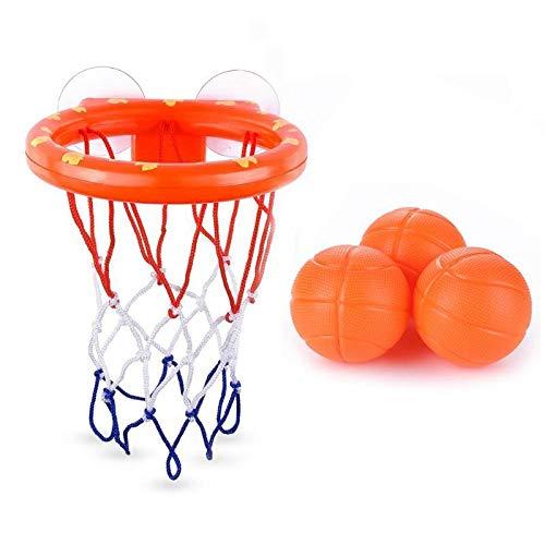 Lankater Bad-Spielzeug-Fun Basketballkorb & Ball Set, Badewanne Mit Wasser Spielset, Badespielzeug Kreative Badewanne Shooting Game Sets Mit Strong Saugern Und 3 Bällen