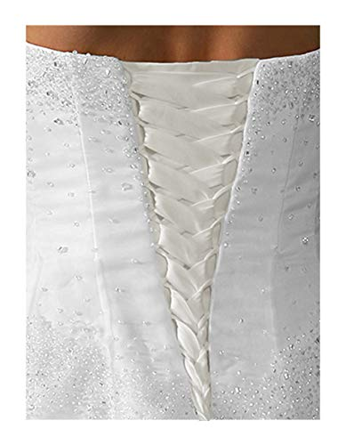 Wedding Gown Replace Zipper Adjust Size Corset Lace-up Ivory 12' Long
