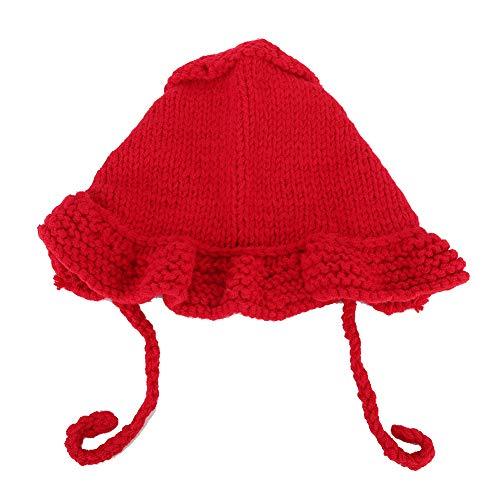 Baby Warm Hat, Niños Gorros de punto a prueba de viento Regalos para niños recién nacidos Otoño Invierno Cap(rojo)