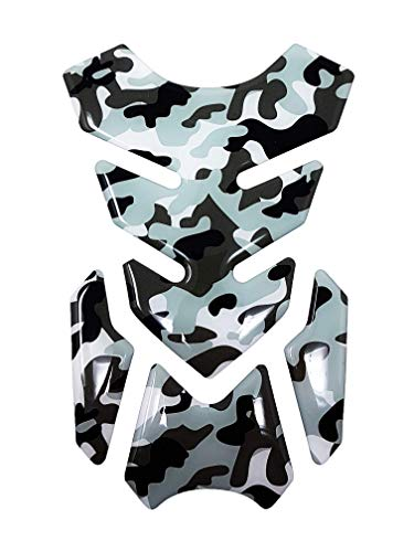 Quattroerre Protection Réservoir Adhésive 3D pour Motos Full, Camouflage Gris, 18,5 x 13 cm