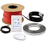 LuxHeat Floor Heating Cable Set, 100 Sqft - 120v Electric Radiant Floor Heating System Under Tile. Set Includes, Floor Heating Cable, Strapping, UDG4 OJ Microline Programmable Thermostat with GFCI