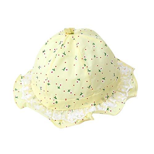 fgsdd Sombrero de bebé para niñas, bonito sombrero de pescador, sombrero para niños amarillo Talla única