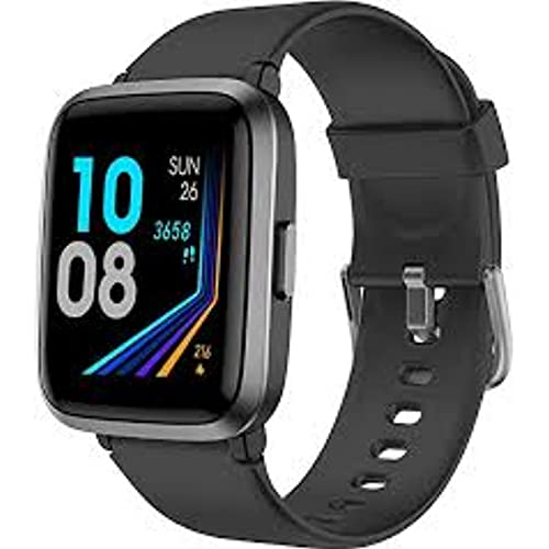 YAMAY Smart Watch, Watches for Men Women Fitness Tracker Blood Pressure Monitor Blood Oxygen Meter Heart Rate Monitor IP68 Waterproof, (English Edition)