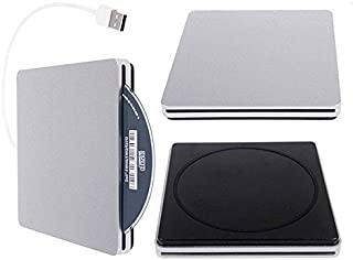 JahyShow US Ultra Slim USB External Slot DVD R CD RW Drive Burner Superdrive for Macbook Pro Air Imac/Windows, XP, Vista