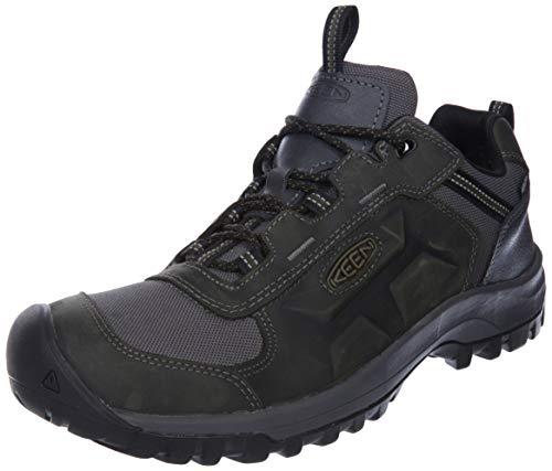 KEEN Basin Ridge Low Height Waterproof, Zapatillas para Caminar Hombre, Imán Dark...