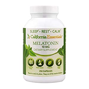✔SLEEP BETTER, NATURALLY... California Essentials sleep supplement uses high-quality natural non-GMO, vegan, gluten- and dairy-free ingredients to support restful sleep. ✔ BE A HEALTHIER YOU... Designed to provide balanced melatonin levels, our sleep...