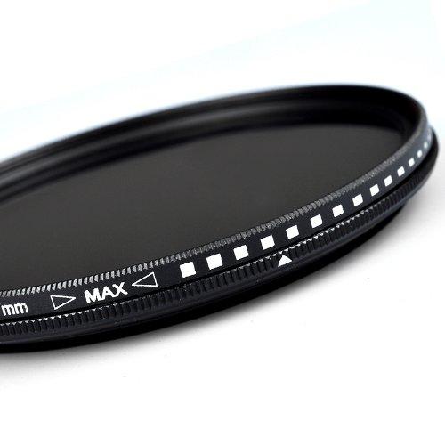 Zomei - Filtro ND de 52 mm Fader ND2-400 para Canon Nikon Hoya Sony Lens Ultra Slim ajustable Densidad variable cristal óptico profesional filtro de ND2 a ND400
