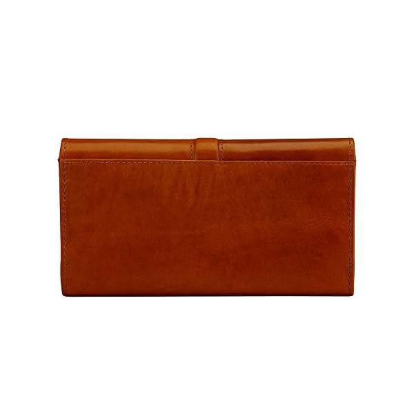 Finelaer Leather Clutch Purse Envelope Card Holder Wallet 2