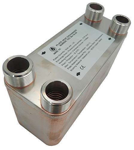 """Edelstahl Wärmetauscher Plattenwärmetauscher NORDIC TEC Ba-16-50, 175kW, 50 platten, 1"""""""