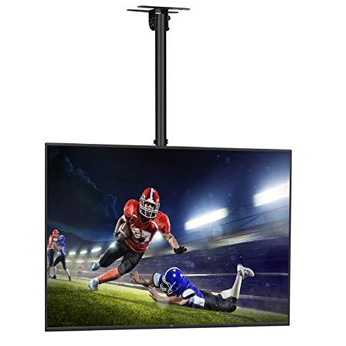 SIMBR Soporte TV de Techo con Altura Ajustable Soporte para Televisión con Pantalla LED/LCD/Plasma de 22-75 '' Carga Máxima 50kg, VESA Máxima 600×400 Inclinable y Giratorio