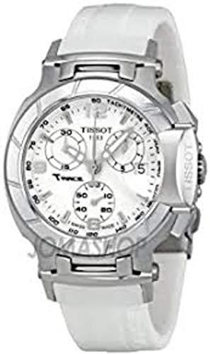 Tissot T-Race Reloj cronógrafo para mujer con esfera blanca (Modelo: T0482171701700) tissot