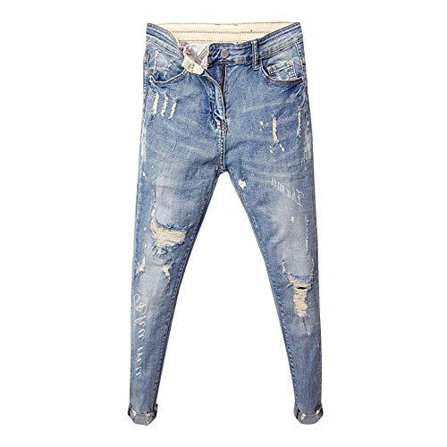 Guapo Jeans Vaqueros Pantalon Moda De Moda De Los Hombres Pantalones Vaqueros Delgados Pies Hombres Tendencia Espíritu C