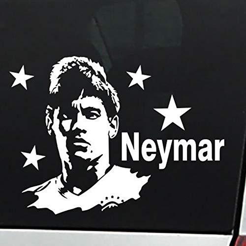 Neymar Fußballspieler Aufkleber Athlet Dekoration Helm Kinderzimmer Dekoration Poster Vinyl Fußball Aufkleber Wandtattoo 43x58cm
