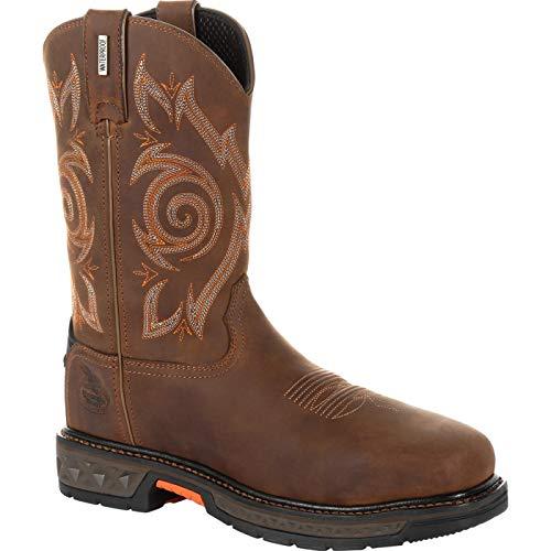 Georgia Boot Carbo-Tec LT Steel Toe Waterproof Pull On Work Boot Size 12(M) Brown