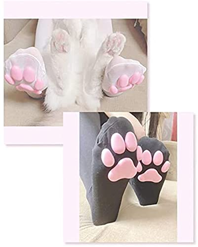 Cat Paw Thigh High Socks, 3D Kitten Claw Stockings Cute Cat Paw Pad Socks, Cosplay Cat Paw Socks, Thigh High Socks Pink Cat Paw Pad Sock ?For Girls Lolita Cosplay (2pcs)
