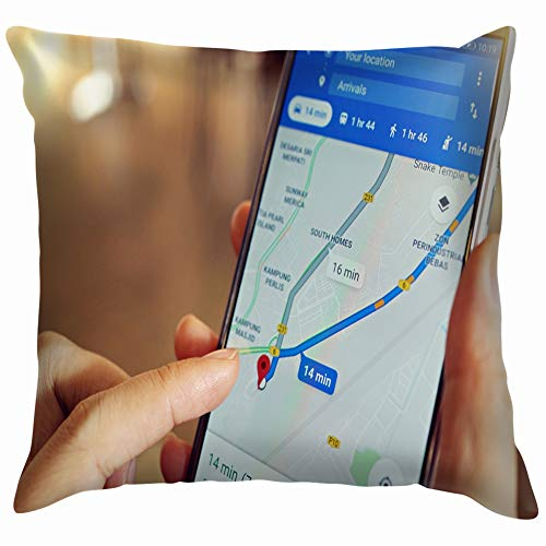 Nicegift Penang Malaysia April 6 2018 Female Business Finance Google Technology Pillow Case Throw Pillow Cover Square Cushion Cover 18X18 Inch