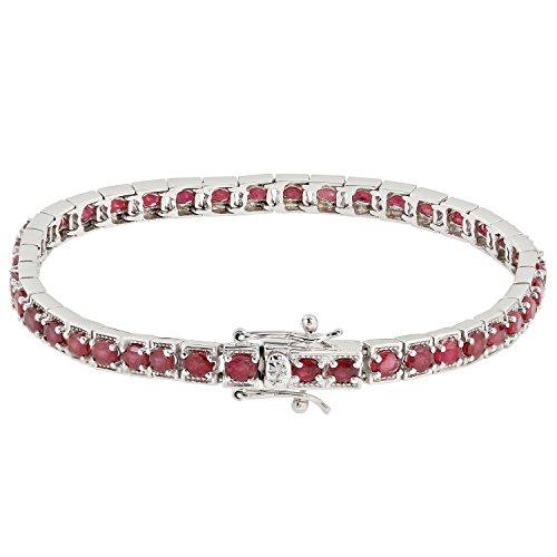 Harry Ivens Damen-Armband aus echt Silber 925 mit Rubin rot 19cm