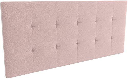 LA WEB DEL COLCHON - Cabecero tapizado Celio para Cama de 135 (145 x 70 cms) Rosa Palo Textil Suave