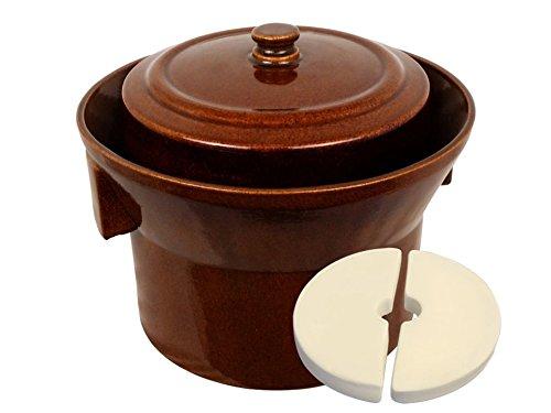 Kerazo 5 L (1.3 Gal) K&K Keramik German Made Fermenting Crock