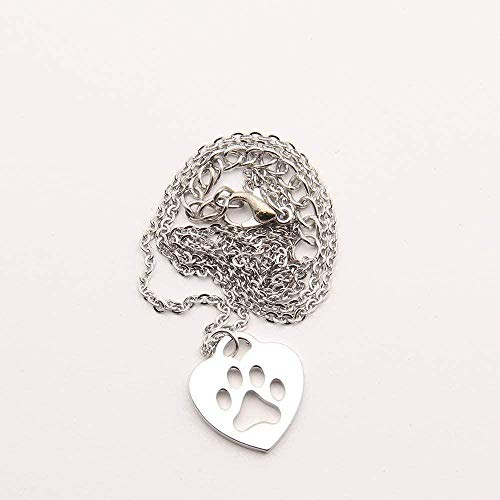 LBBYMX Co.,ltd Necklace Fashion Dog Paw Necklace Delicate Pendant Paw Print Necklaces and Pendants Handcrafted Charms in Brushed Metal