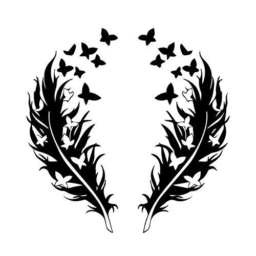 Personalized car stickers Vinilo decals mariposa de plumas diseño romántico del coche...