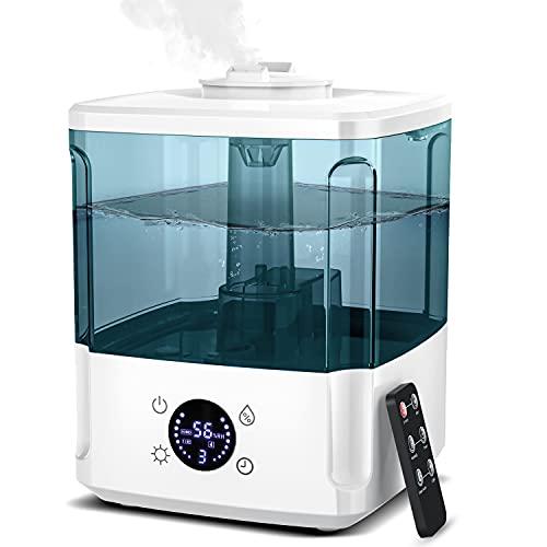 Ultraschall Luftbefeuchter 4.5L Ultra Leise Luftbefeuchter, 7 Farben LED, Top-Füllung, Aroma Diffuser AUTO-OFF, Timer, Schlafmodus, 360°Drehbaren Düsen für Büroraum Schlafzimmer Kinderzimmer Warmfunn