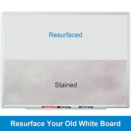 6'x4' Whiteboard Paper, White Board Adhesive Wallpaper, Large Dry Erase Wall Sticker, Dry Erase Paper Roll for Table/Doors, 9 Markers, Super Sticky, No Ghost Photo #4