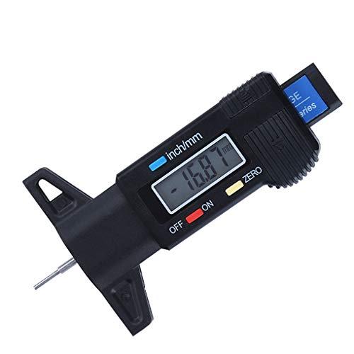 rongweiwang Digital-Auto-Reifen-Profiltiefen Tester Messgerät Meter 0-25mm Reifenprofil Tiefenmesser Meter LCD Display Reifenmesssattel