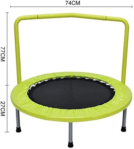 Indoor trampoline bed for children at home Children's Indoor Trampoline Armrests Household Trampoline Suitable for Children under 6 Years Old Bearing 150KG Adult sports weight loss device jumping bed