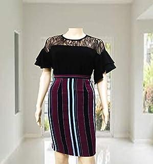Emoltem Women's Knee Length Straight Skirt