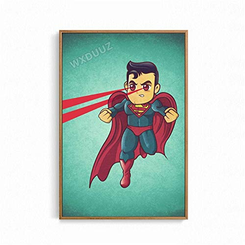 SDFSD Cartoon Funny Cute Lovely Superheld Movive Creative Poster für Kinderzimmer Schlafzimmer Home Decor Wandkunst Bild Leinwand Malerei 50 * 70cm C.