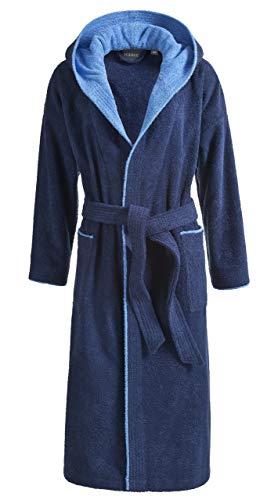 Egeria Calypso Enfants Jeunesse Peignoir Coton, Coton, Bleu foncé, 12 Ans