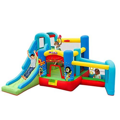 ZUIZUI Castillos hinchables Juguetes para niños Juegos al Aire Libre Infantiles Castillos inflables Trampolines para niños Diapositivas al Aire